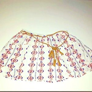 Forever 21 Tribal Pattern Mini Skirt Cute